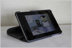 Nexus7横置カバー装着